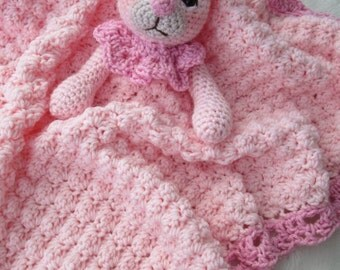 Crochet Pattern Bunny Huggy Blanket by Teri Crews instant download PDF format