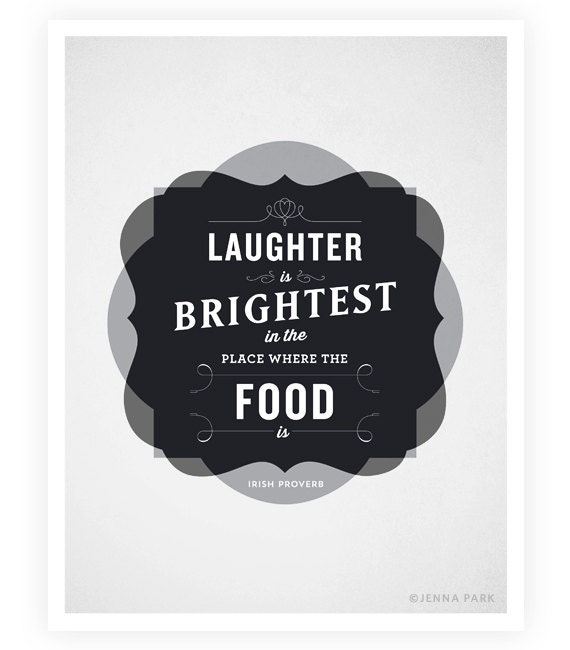 Art Print Typographic Poster Food Quotes Kitchen by SweetFineDay