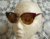 Red Cats Eye Rockabilly 1950's Inspired Retro Sunglasses