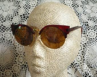 Red Cats Eye Rockabilly 1950's Inspired Retro Sunglasses
