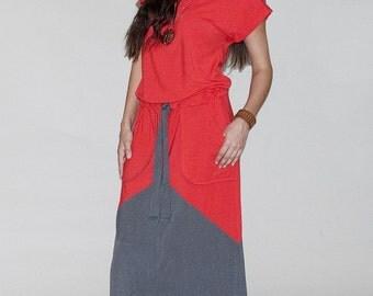 Jade Color Blocked Dress