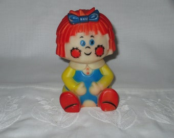 Raggedy Ann look a like Squeeze Doll / Toy By Gatormom13 Just Reduced
