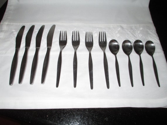 Vintage danish modern stainless flatware 1970s by by gatormom13 - Contemporary stainless flatware ...