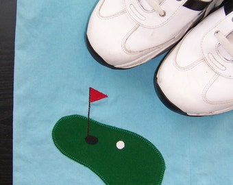 Men's Golf Shoe Bag Travel Shoe Bag with Applique