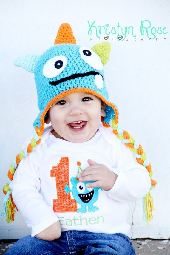 Crochet monster hat newborn halloween costume newborn photography prop toddler monster hat halloween monster hat
