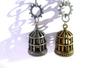 Birdcage Earrings Upcycled Steampunk Jewelry Teen Girl Gifts Trending Jewelry Women Gifts Teen Girl Jewelry Popular Items