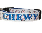 Personalized Dog Collar - Baseball Dog Collar for small dogs