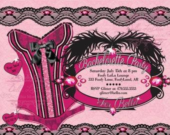 Bachelorette Party Invitation, Bachelorette Party, Lingerie Shower Invitations