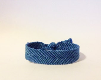 wide solid color friendship bracelet