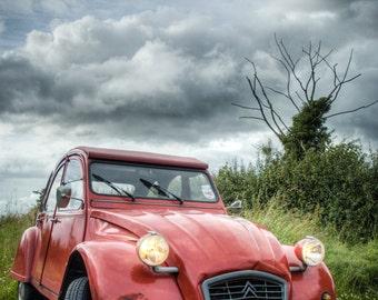 2 CV Citroen car (2) - Fine Art Photography - Wall Décor - Nature Photography - 7x5 Print