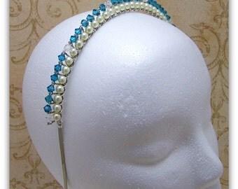 Medieval Headband - Renaissance Headband, Wedding Headband, Tudor Headband, Swarovski Headband, Anne Boleyn