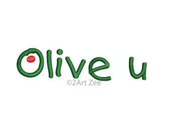 Olive U Machine Embroidery Design