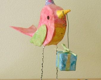 Birthday Party Bird Cake Topper