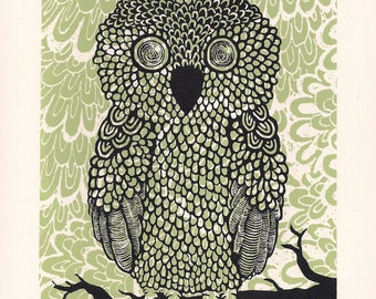 Owl Children Art Illustration - Screen Print