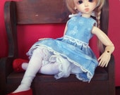 Dress Outfit for 1/6 Yosd BJD in blue butterfly print