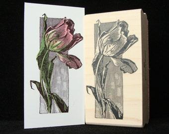 tulip rubber stamp (small)