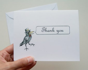 Little Crow Note Card Set - Teetoo