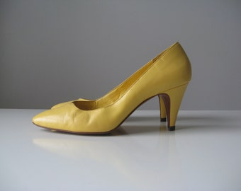vintage yellow leather shoes