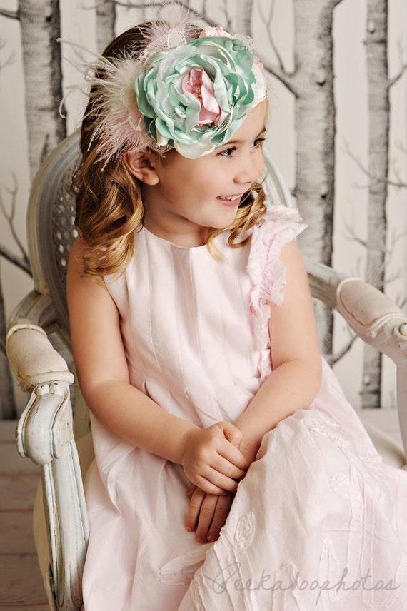 Parfait Pastel vintage shabby chic headband