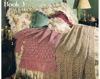 Quick Crochet AFGHANS - Vintage Pattern 1989