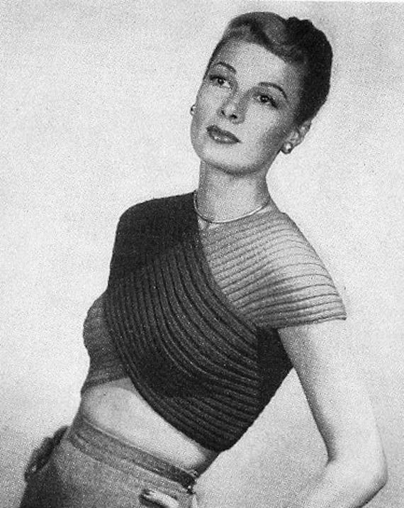 INSTANT PDF PATTERN 1940s Vintage Knitting Crochet Pattern