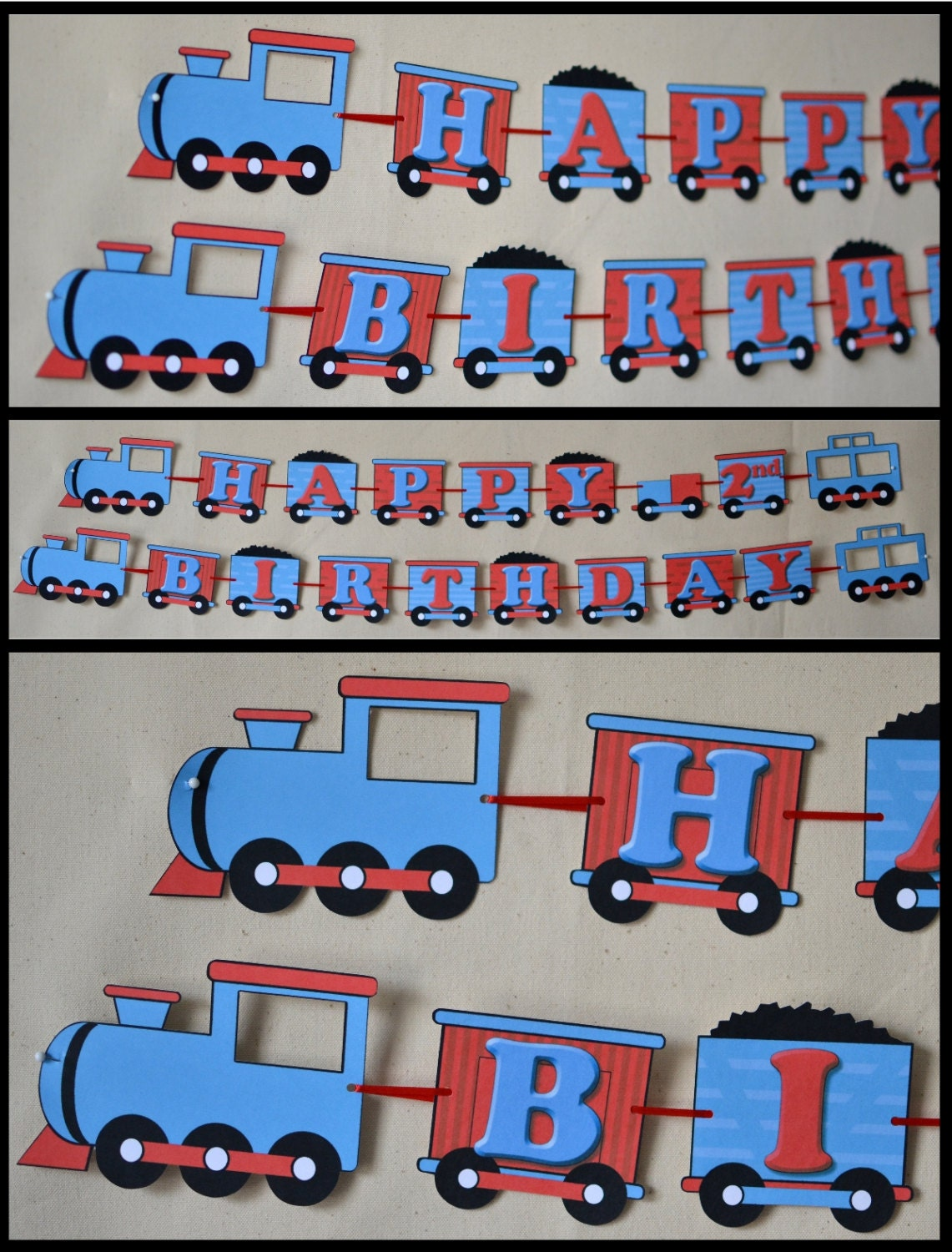 thomas the train birthday party decorations by bcpaperdesigns. Black Bedroom Furniture Sets. Home Design Ideas