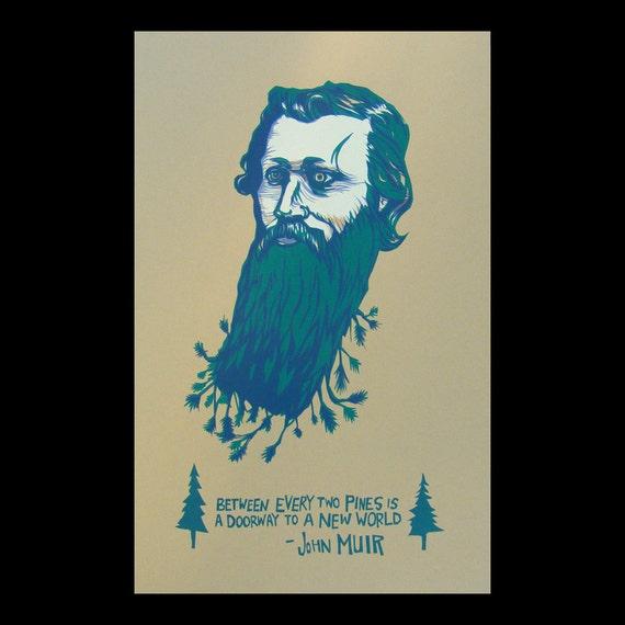 John Muir portrait poster Art print