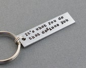 Dark Knight It's What You Do That Defines You Hand Stamped Keychain by TheCopperFox