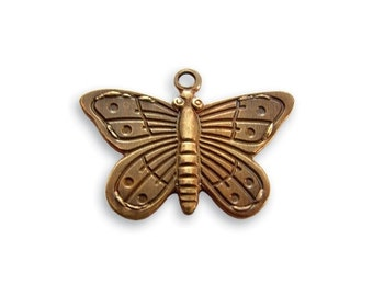 Vintaj Butterfly Charm // Brass Butterfly Charm // Butterfly Charm - 14mm x 20mm Natural Brass