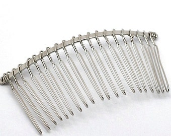 4 Hair Combs 78mm Terrific for Hair Bows and Accessories - Z001