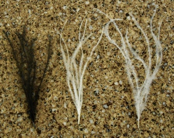 Ostrich Feather 1 Bunch 6 Count Wisp, Furl, Sprig - White, Ivory or Black