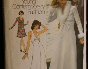 Simplicity 6658  Misses Halter Dress and Jacket Vintage 70s Sewing Pattern Sz 12