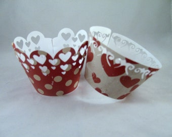 Hearts, Hearts & more Hearts Valentine Cupcake Toppers