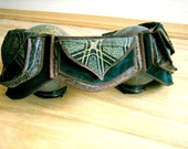 Psychedelic Green - Pocket Belt - Utility belt - Festival belt - Hip bag - Steampunk - Bohemian - Money belt