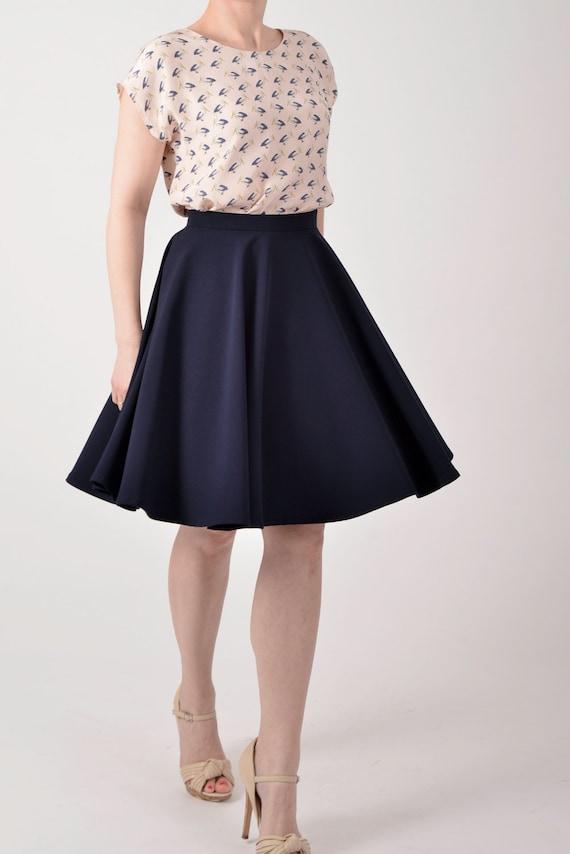 blue circle skirt