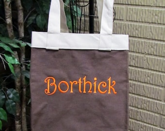 Brown Canvas Tote is Great Canvas for Monogram