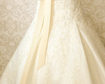 Vanilla Bean Wedding Dress Sash, Bridal Sash