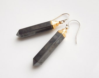 Pyrite Fools Gold Earrings - Featured on Etsy's Front Page