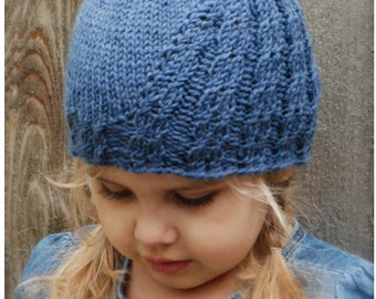 Knitting PATTERN-The Avery Cloche' (Toddler, Child, Adult sizes)