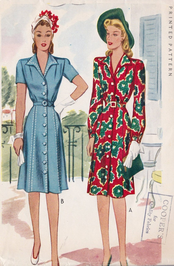 1940s Day Wear: Unavailable Listing On Etsy