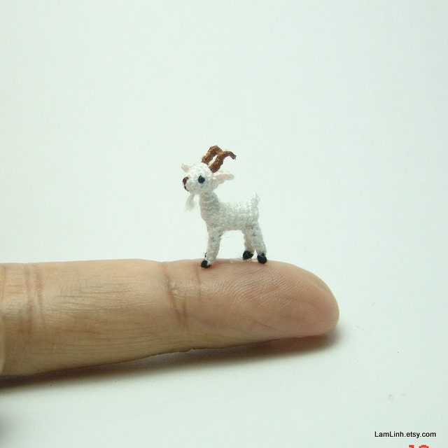 2/3 inch miniature ugly black cat - Micro amigurumi crochet animal ...