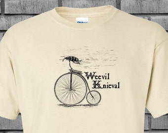 Weevil Knieval Penny Farthing Stunt Steampunk Tshirt