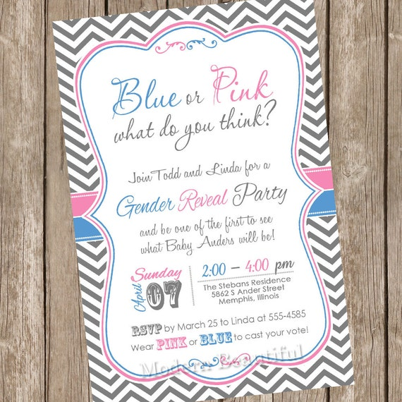 like this item - Free Printable Gender Reveal Party Invitations