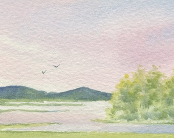 Another summer day - ACEO Original watercolor painting