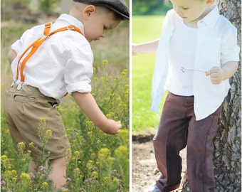 Classic Chinos: Short PDF Sewing Pattern, Pants PDF Sewing Pattern, Baby, Boy, Girl