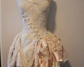 Steampunk Wedding Dress - White and Off White Vintage Whimsical Merlot Dress - Made to Order