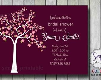 Bridal Shower Invitation - Cherry Blossom Tree