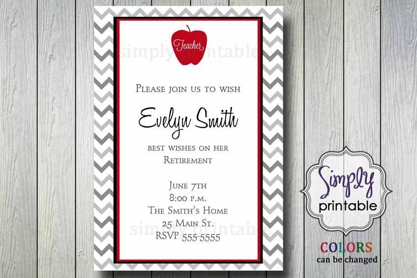 Teacher retirement party invitation zoom stopboris Gallery