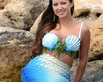 Custom Shell Mermaid Bra Top Costume Accessory