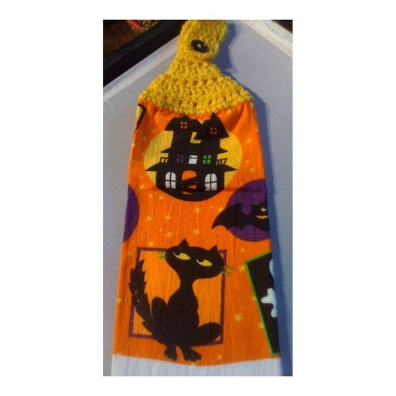 Cat Themed Kitchen Towels: Hanging Hand Towel Tea Towel Cat-Themed Black Cat And